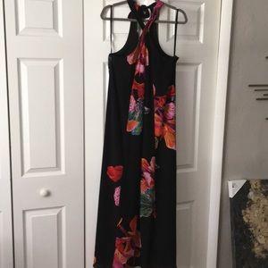Maeve black floral dress NWT